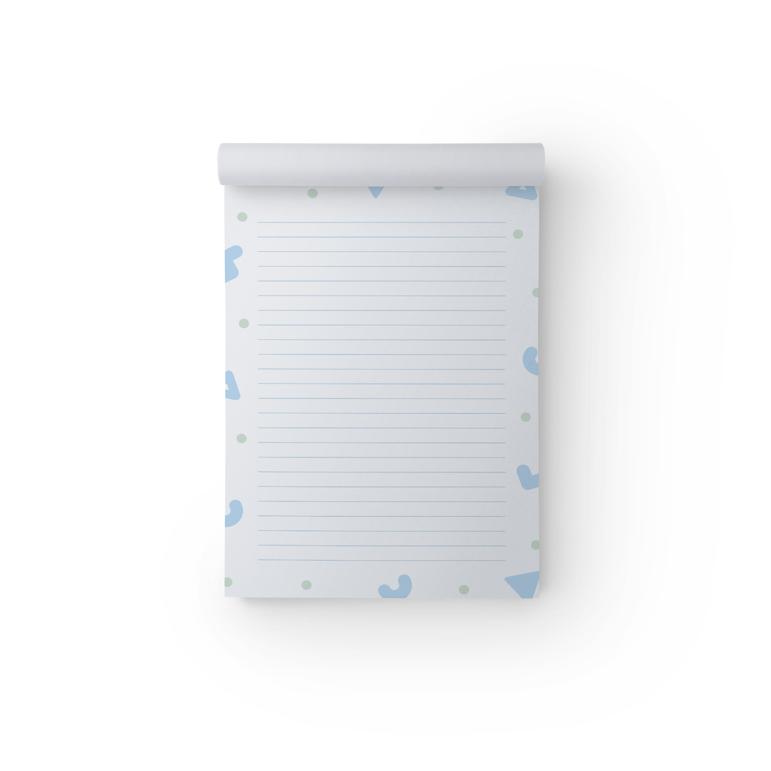 Blue Shapes A5 Notepad