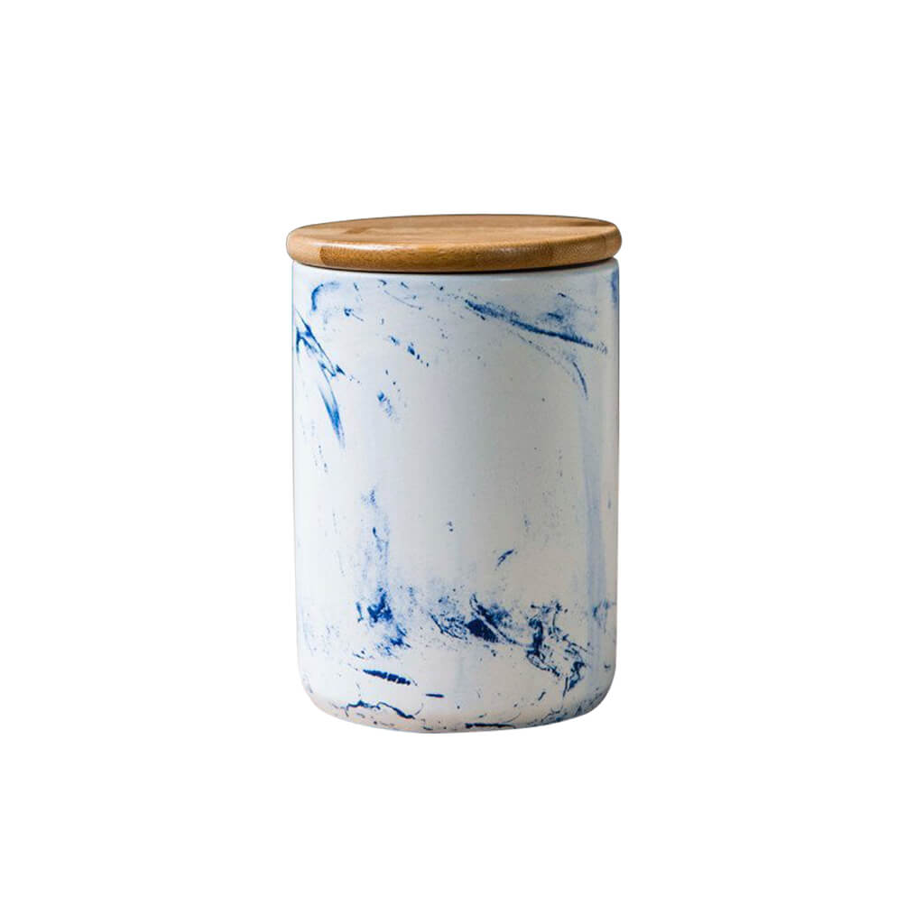 Blue Vein Porcelain Small Canister