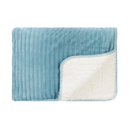 Cord Sherpa Stitch Throw Nile Blue