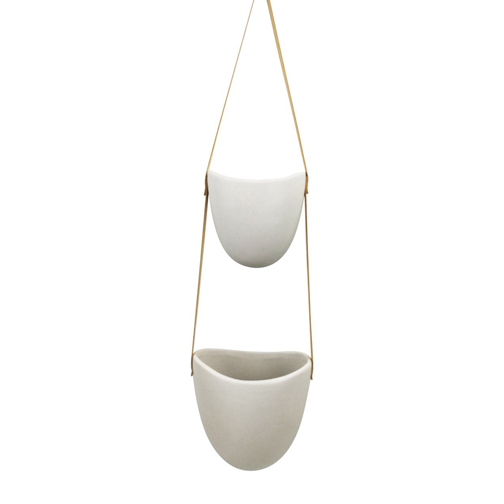 Friday Small Double Hanging Planter