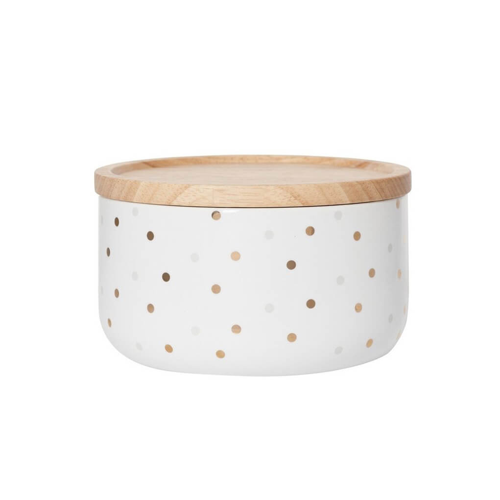 Gold Grey Spot Wide Canister