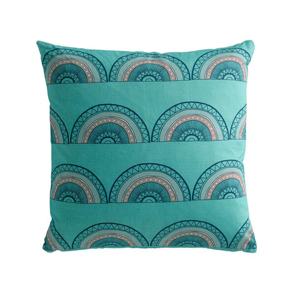 Horseshoe Arch Blue Cushion