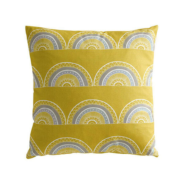 Horseshoe Arch Yellow Cushion
