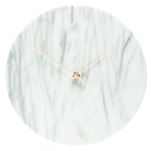Marble White Clock