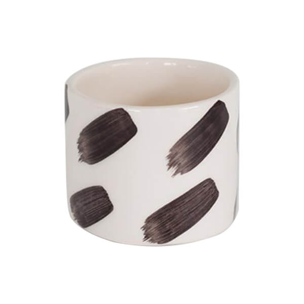 Strokes White With Black Planter