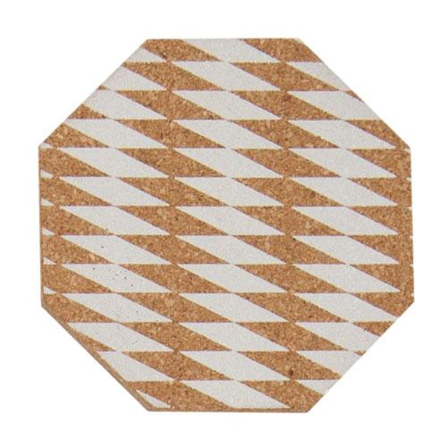 White Octagon Placemat Set Of 4