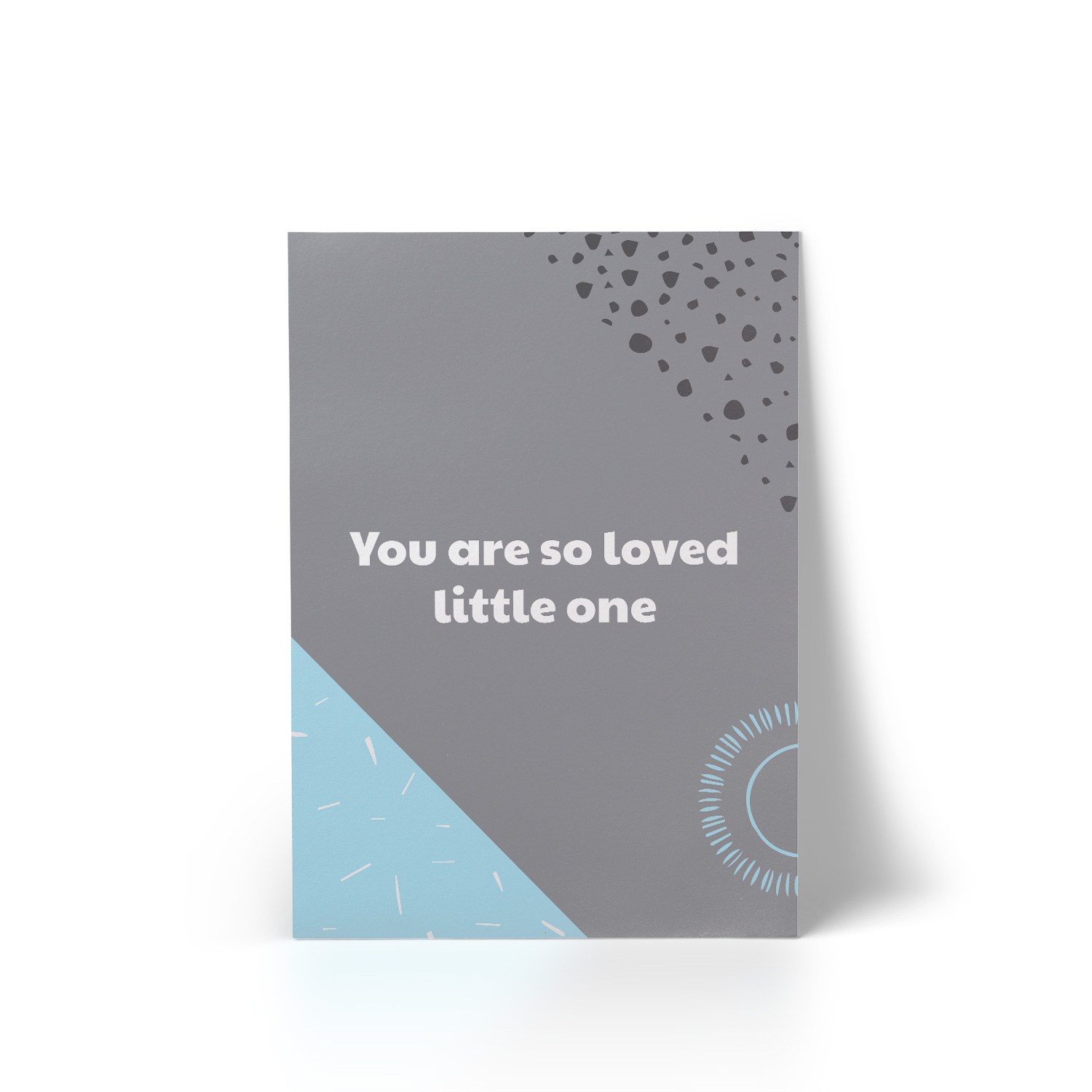 You Are So Loved Blue A4 Art Print