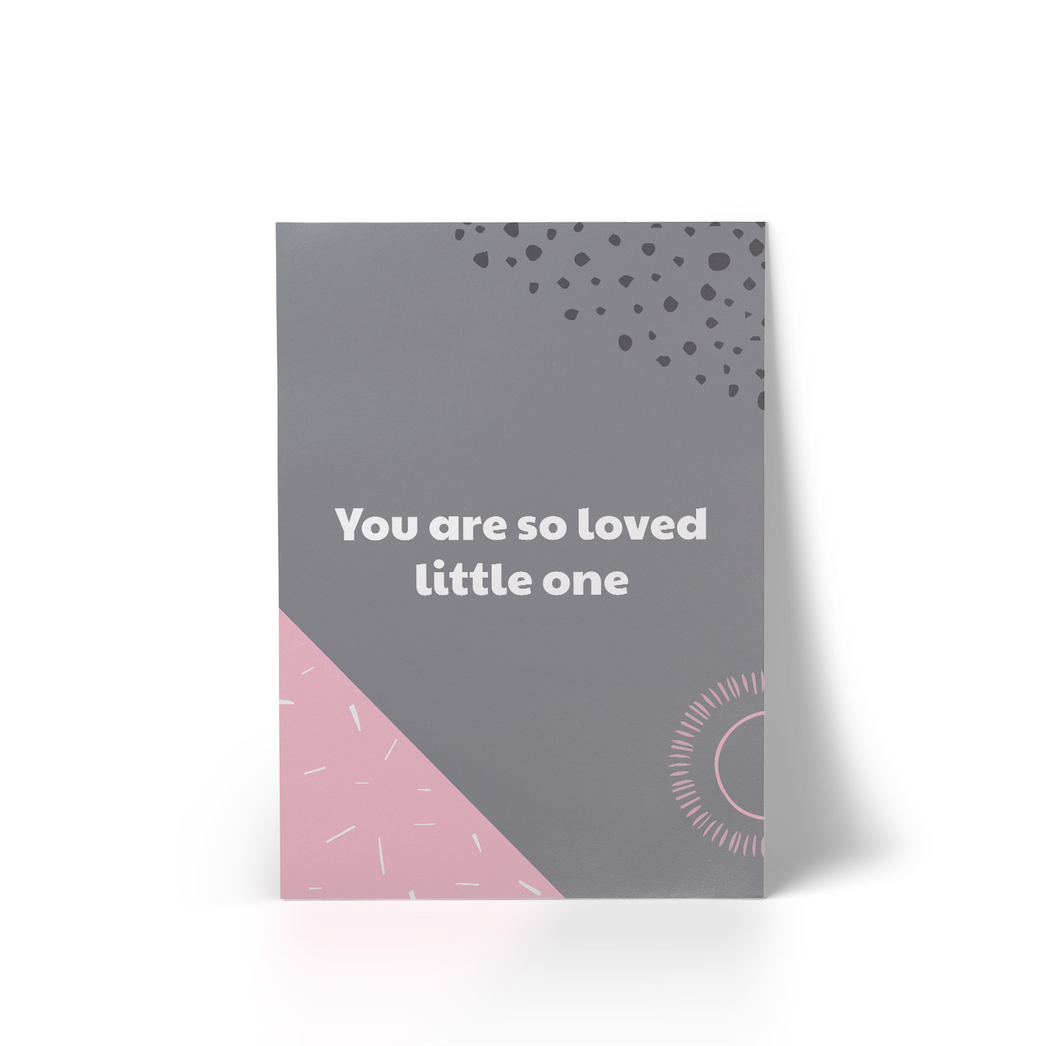 You Are So Loved Pink A4 Art Print