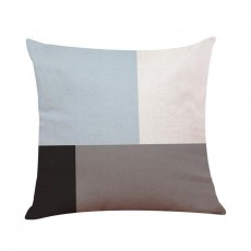 Asymmetrical Blue Cushion