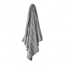 Aura Jumbo Cable Knit Throw Grey Marle