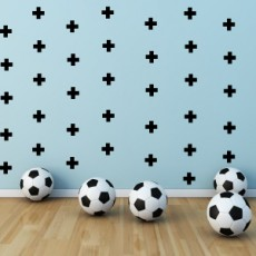 Black Crosses Wall Decals