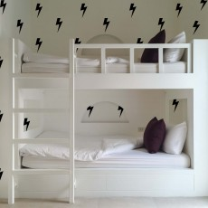 Black Lightning Bolts Wall Decals