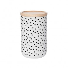 Black Spot Tall Canister