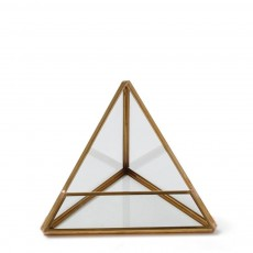 Brass Triangular Terrarium