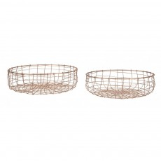 Copper Fruit Baskets Set Of 2