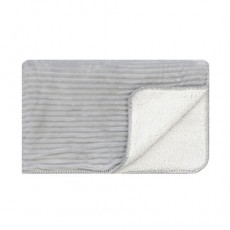 Cord Sherpa Stitch Throw Glacier Grey