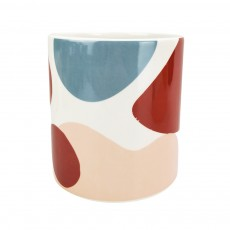 Elena Abstract Medium Planter Pink Blue