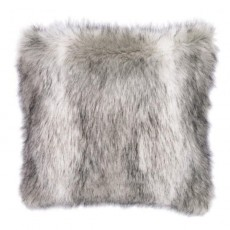 Faux Fur Cushion Grey Marle