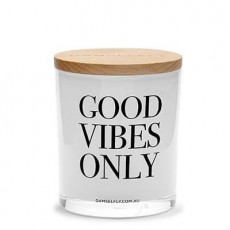 Good Vibes Only Xl Damselfly Candle