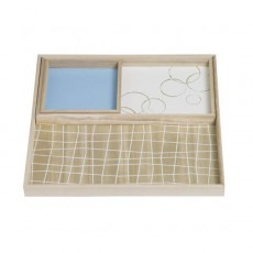 Grid White Lilac Nesting Trays