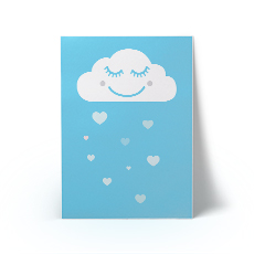 Happy Cloud Blue A3 Art Print