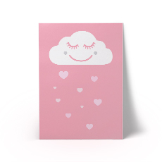 Happy Cloud Pink A3 Art Print