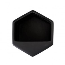 Hexagon Black Large Wall Planter