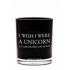 I Wish I Were A Unicorn Damselfly Candle
