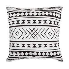 Maya Black White Cushion