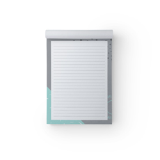 Mint Grey A5 Notepad