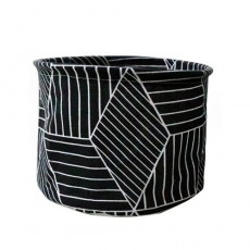 Nordic Striped Foldable Storage Basket