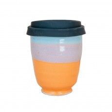 Peachy Blue 12oz Takeaway Cup