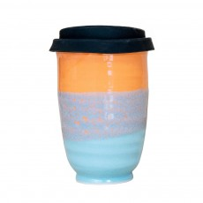 Peachy Blue 16oz Takeaway Cup