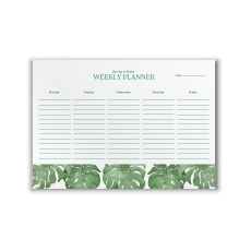Philodendron A4 Weekly Planner