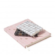 Pink Grid Notebook
