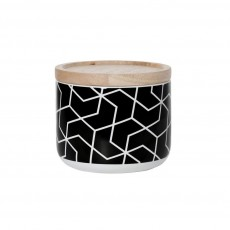 Spiral Hex Black Small Canister