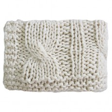 Superknit Cable Throw Cream