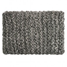 Superknit Plain Stitch Throw Grey Melange