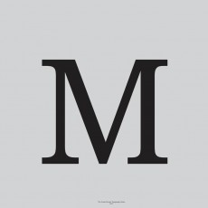 Typography Art Print Grey M