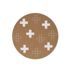 White Crosses Cork Placemat Set