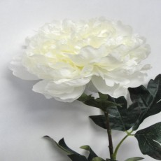 Winter Peony White Faux Plant