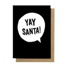 Yay Santa Greeting Card