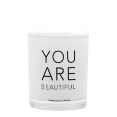 You Are Beautiful Damselfly Candle