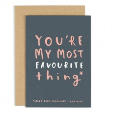 Youre My Most Favourite Thing Card