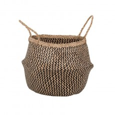 Zig Zag Seagrass Belly Basket
